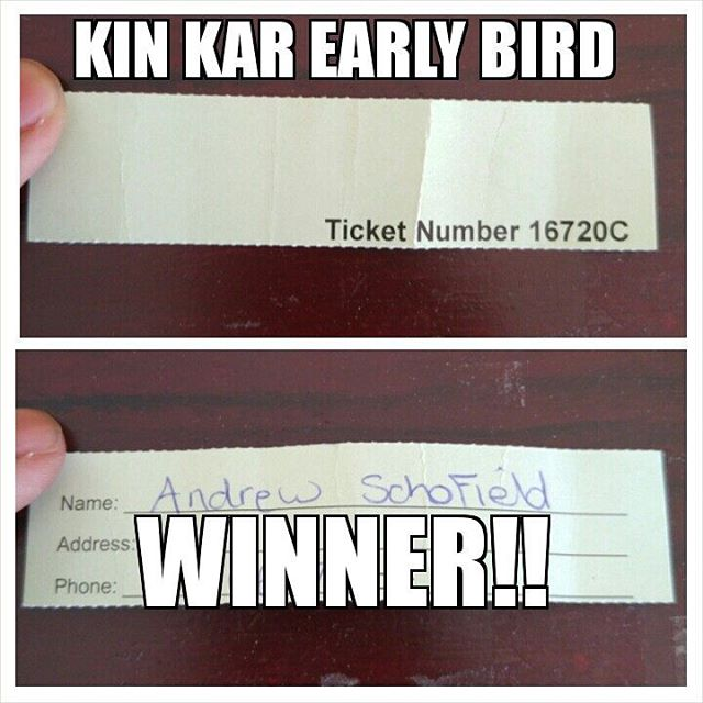 Kin Kar Early Bird Draw