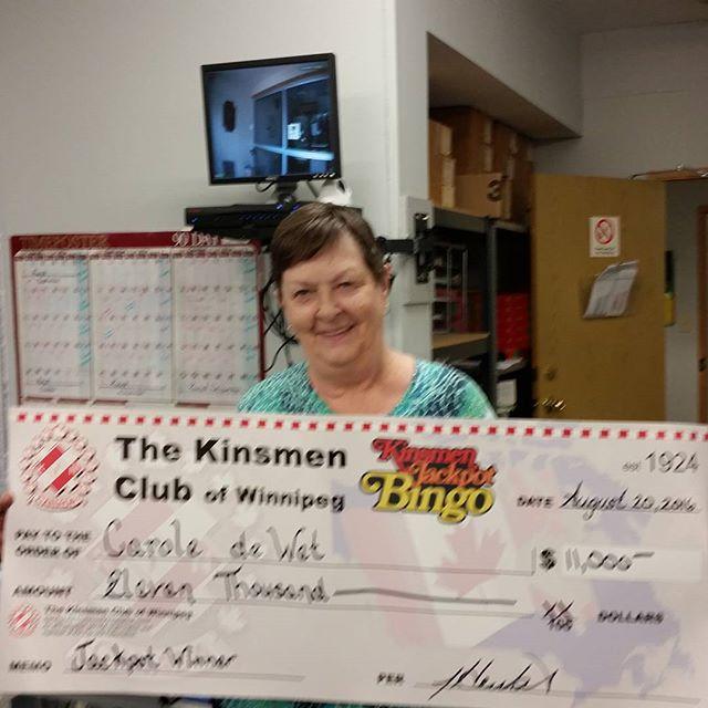 Kinsmen Jackpot Bingo Winner!