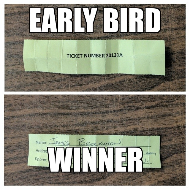 Kin Kar 2017 Second Early Bird Winner